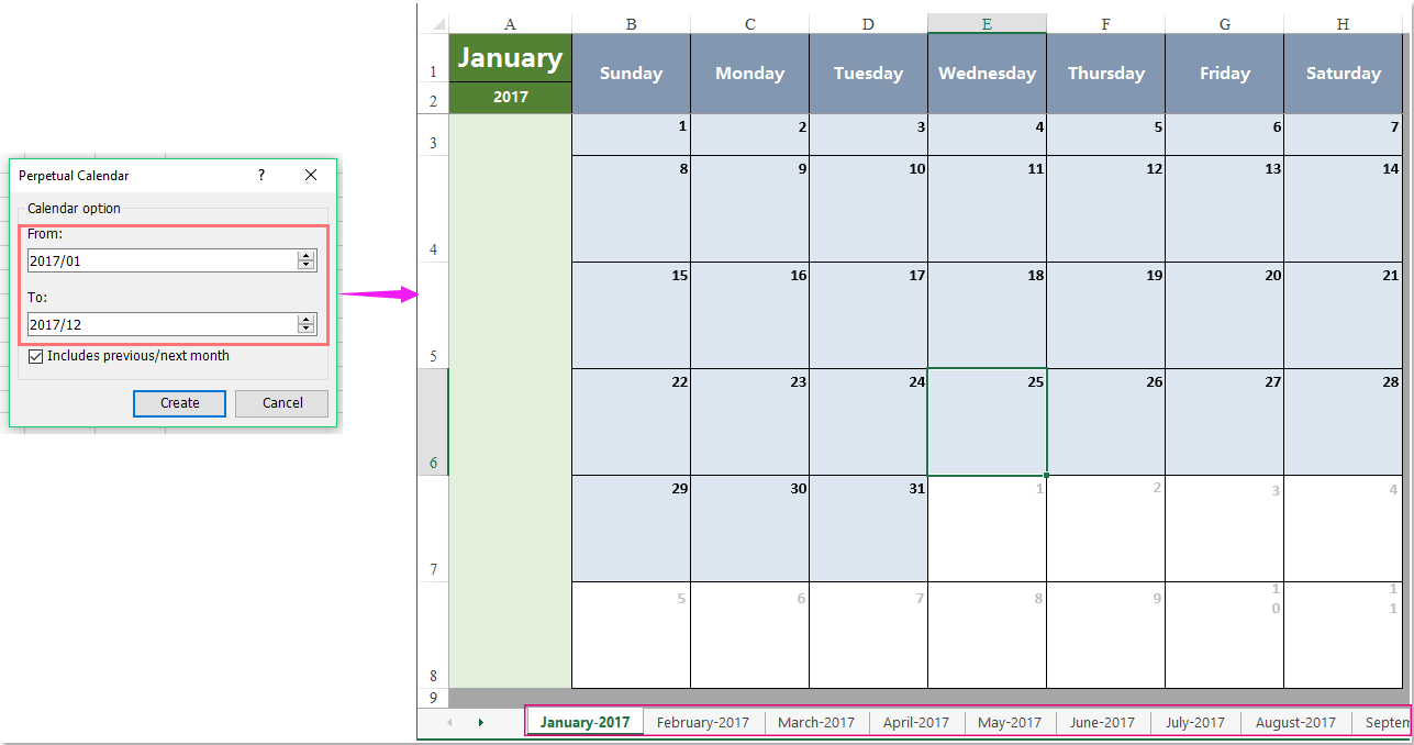 How To List All Mondays / Fridays In A Month In Excel? inside Excel 2020 Calendar Year Formula