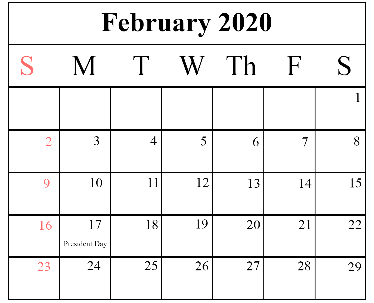 How To Schedule Your Month With February 2020 Printable Calendar pertaining to National Day Calendar 2020 Printable