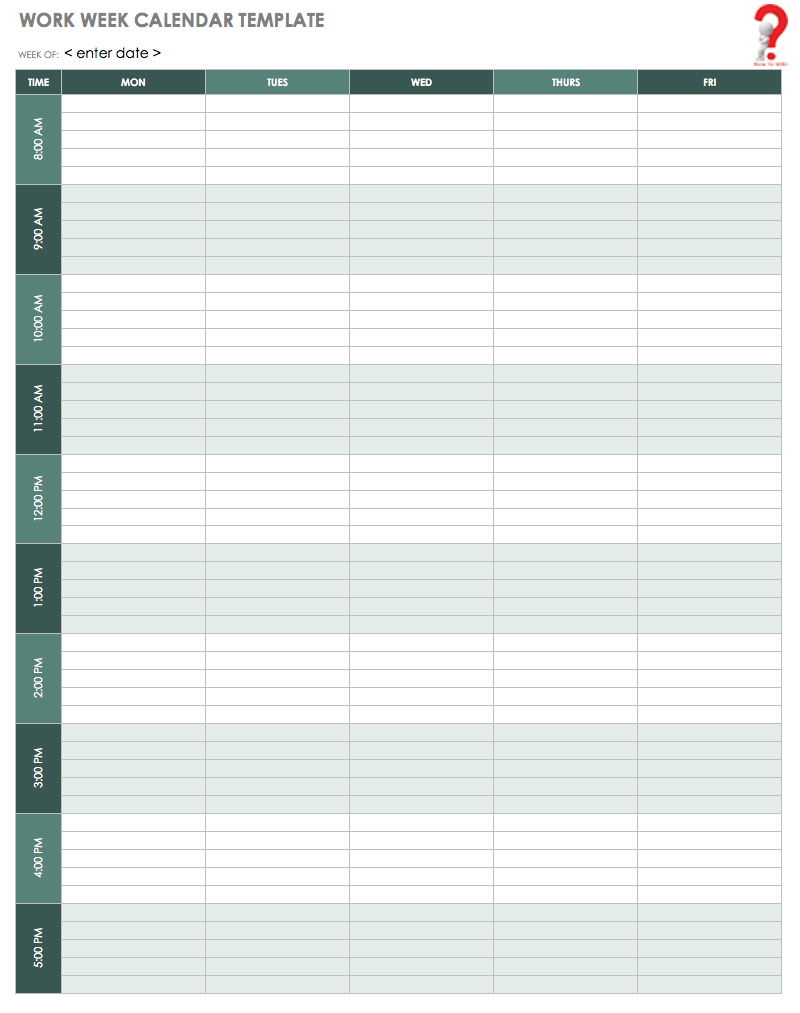 How To Schedule Your Week With Weekly Calendar Template | How To Wiki pertaining to Outlook Calendar Template 5 Week