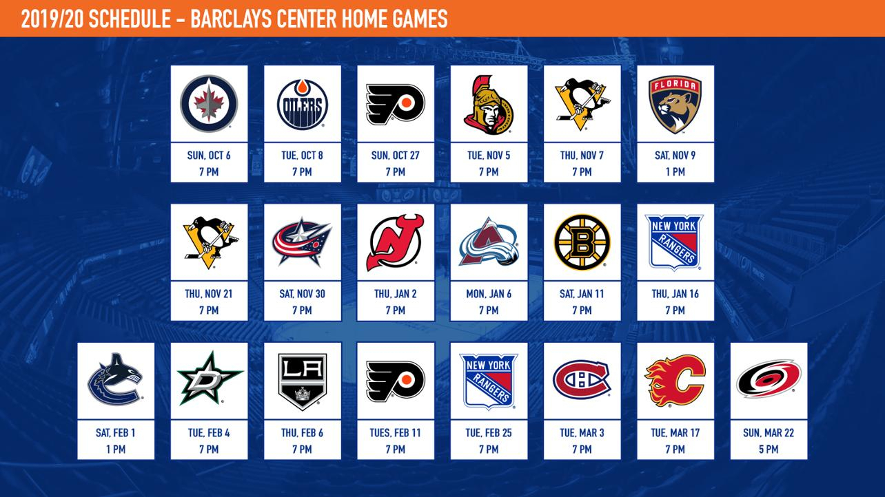 Islanders Announce 2019-20 Schedule with regard to Complete Nashville Predators 2019-2020 Schedule