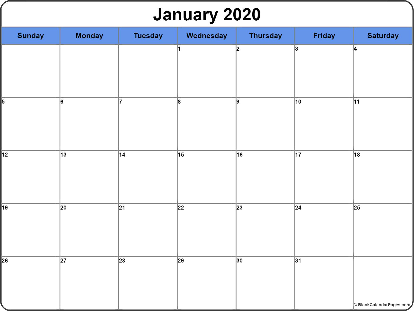 January 2020 Calendar | Free Printable Monthly Calendars in 2020 Imom Free Calendars To Print
