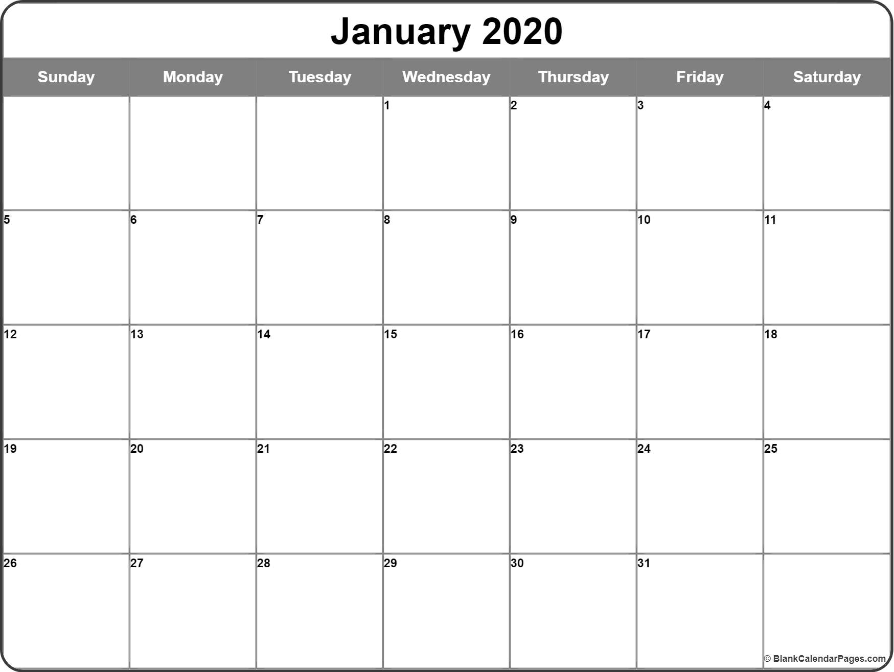 January 2020 Calendar | Free Printable Monthly Calendars with 2020 Imom Free Calendars To Print