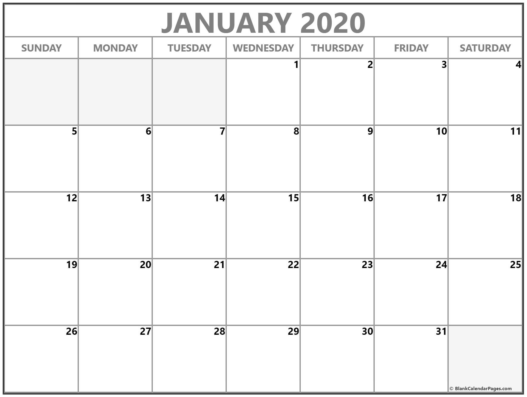 January 2020 Calendar | Free Printable Monthly Calendars within 2020 Imom Free Calendars To Print