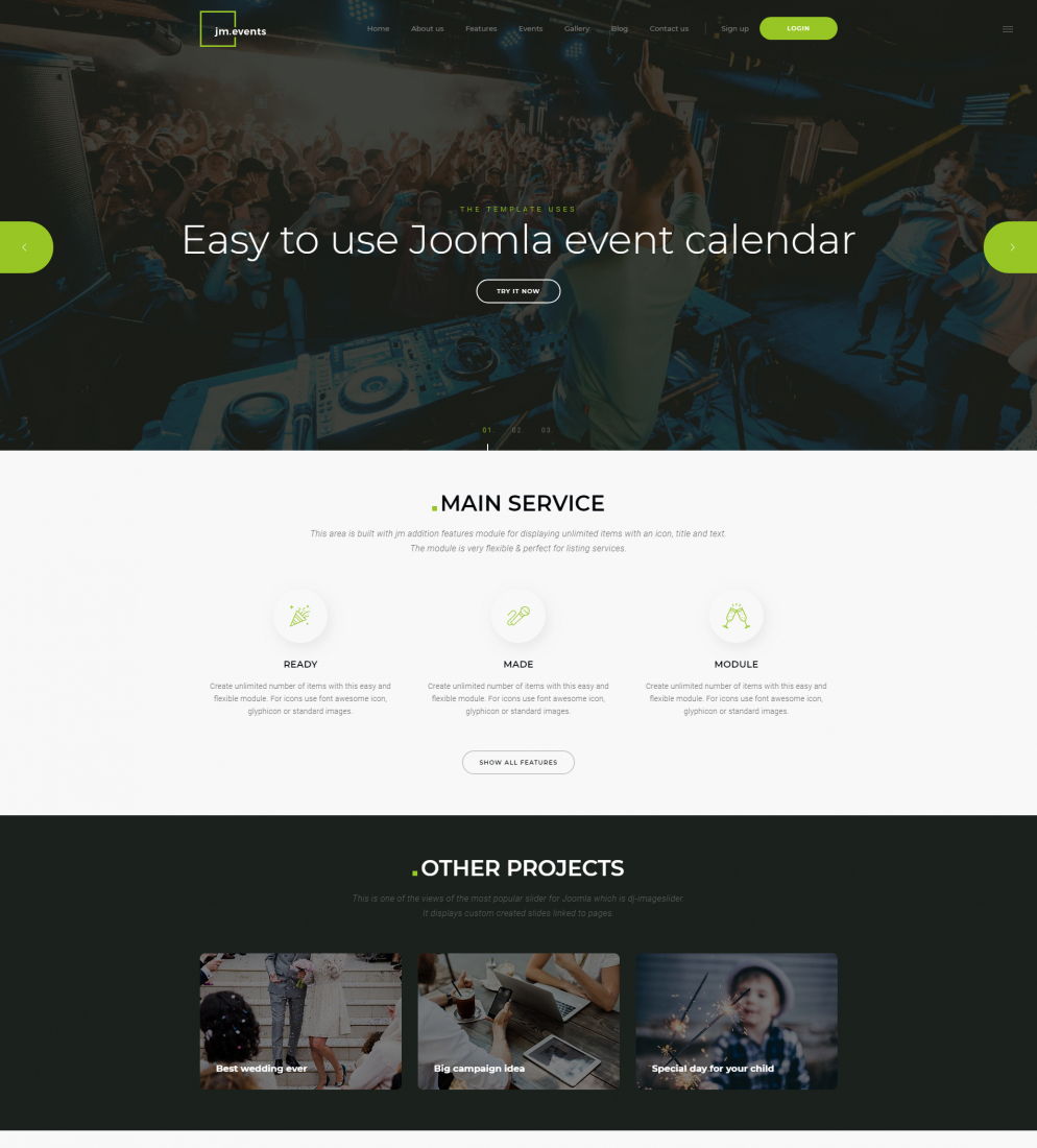 Jm Events Agency - Events Joomla Template And Events Calendar. Complete  Solution For Event Management Website. with regard to Calendar Of Events Template Free