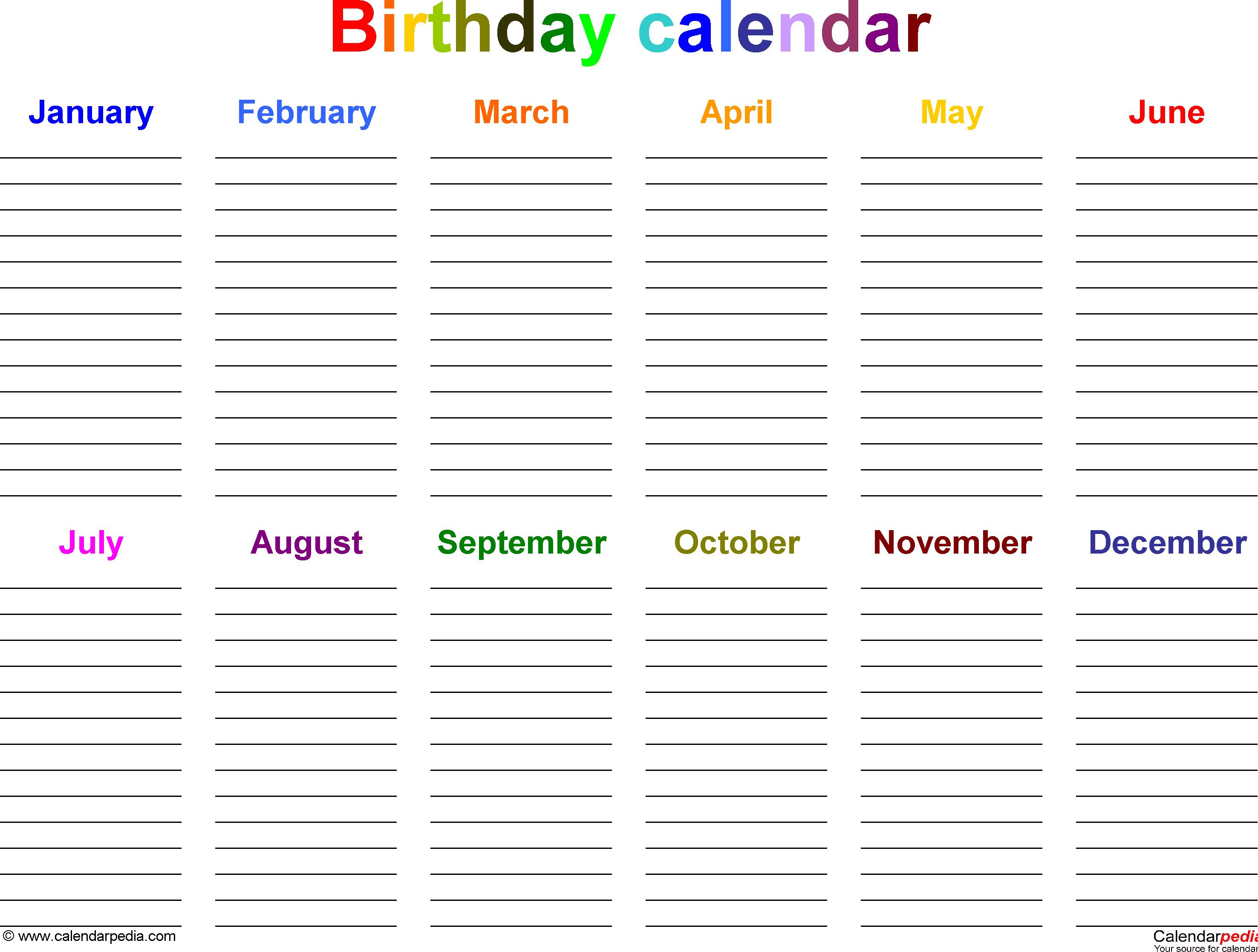 Julian Calendar 2017 | Printable 2017 Calendars intended for Frame Birthday Calendar Templates Free