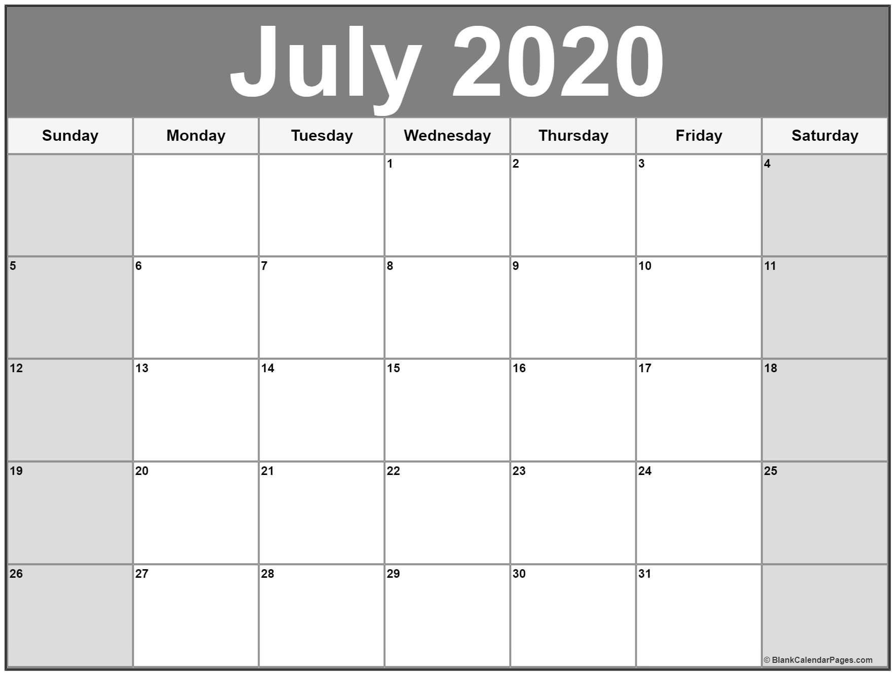 July 2020 Printable Calendar Template #2020Calendars with Vetex 2020 Word Calendar Download