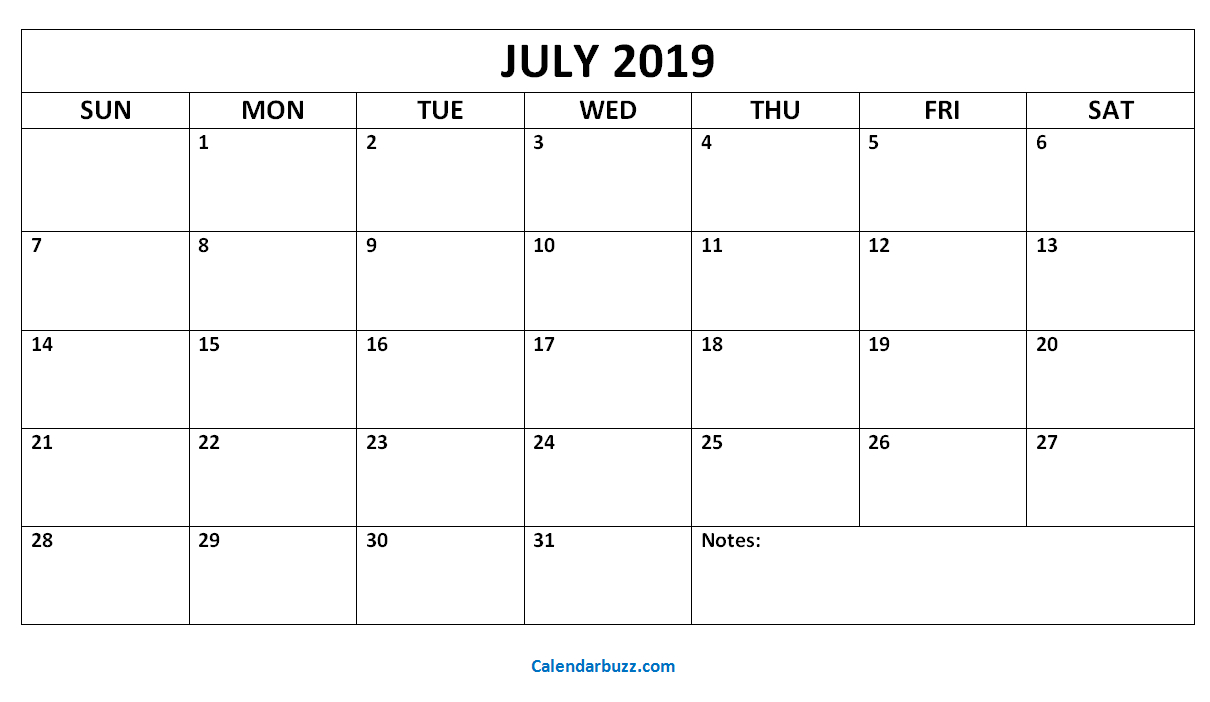 July August September 2019 Calendar | July Month Calendar 2019 Printable with regard to Blank July Monthly Calendar