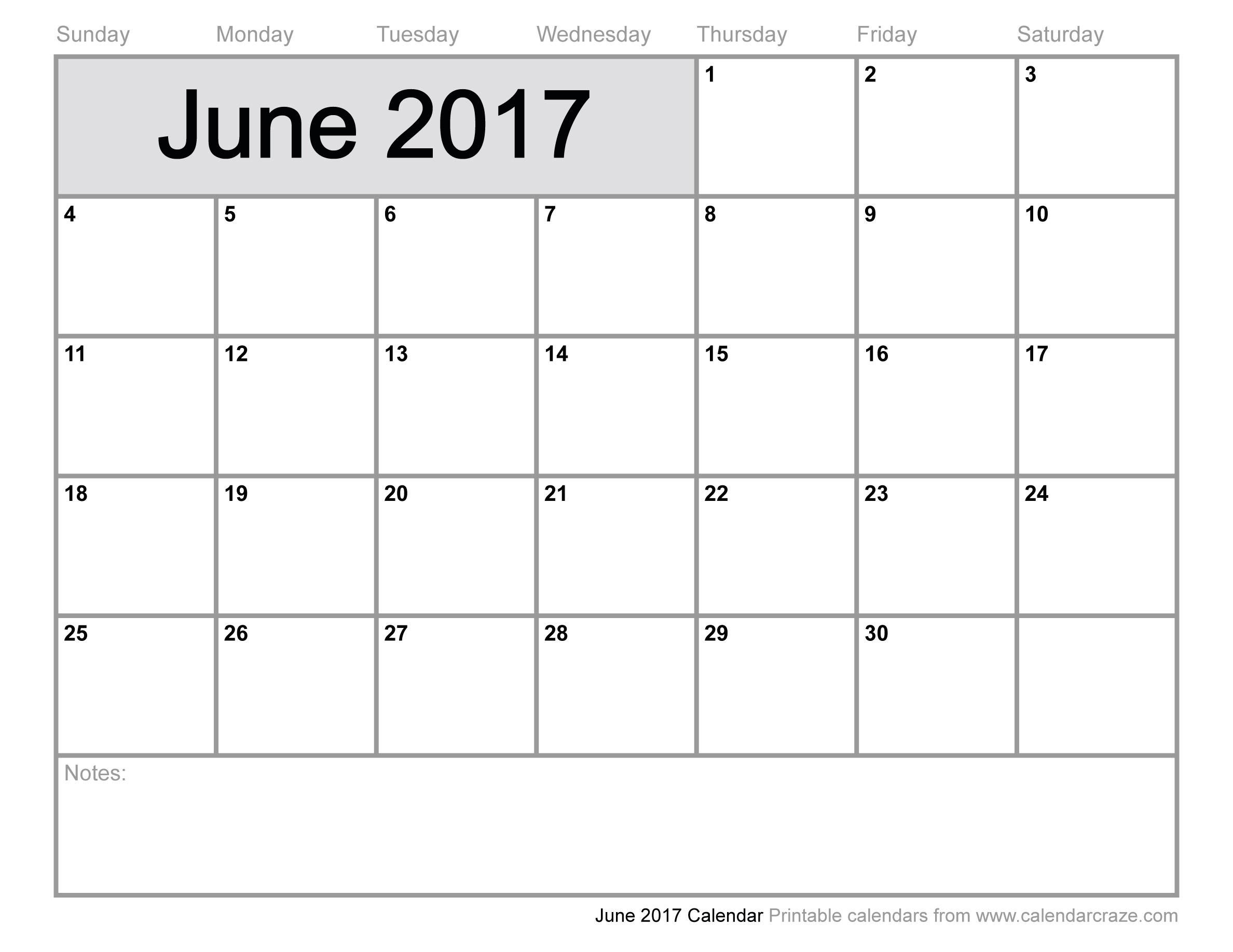June 2017 Calendar Pdf | Printable 2017 Calendars regarding Blanket Calender Printables For December