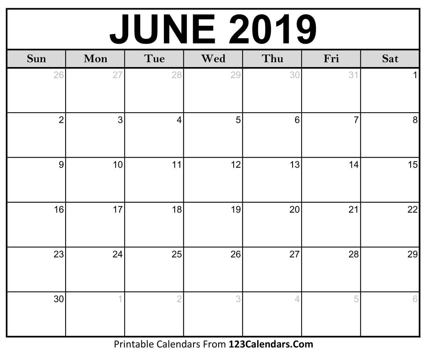 June And July Calendar 2019 Printable | Calendar Format Example in November Calendar For Quikcalendertemplate