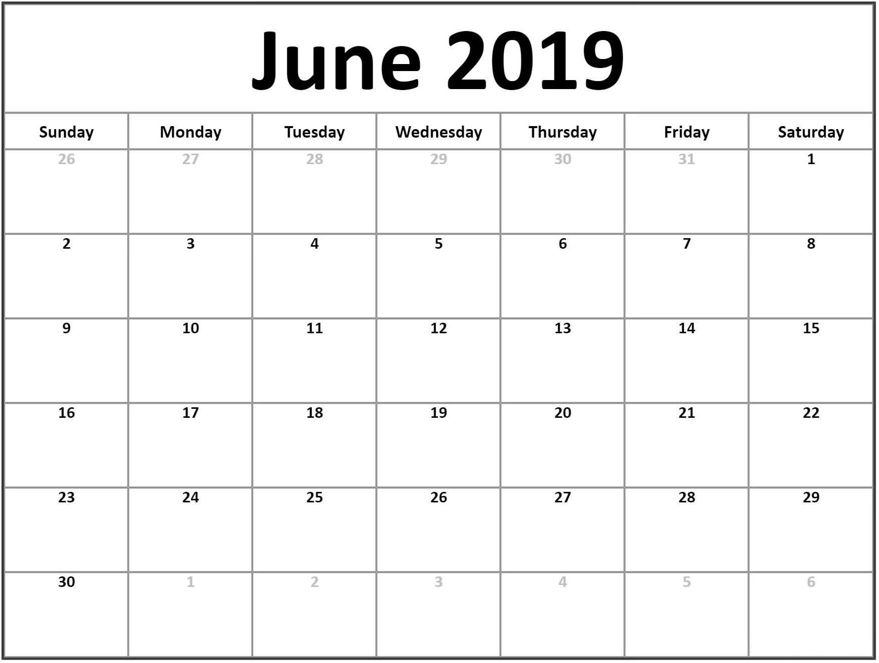 June Calendar 2019 Australia Template – Magic Calendar 2019 Printable with regard to Calendar June Template Australia