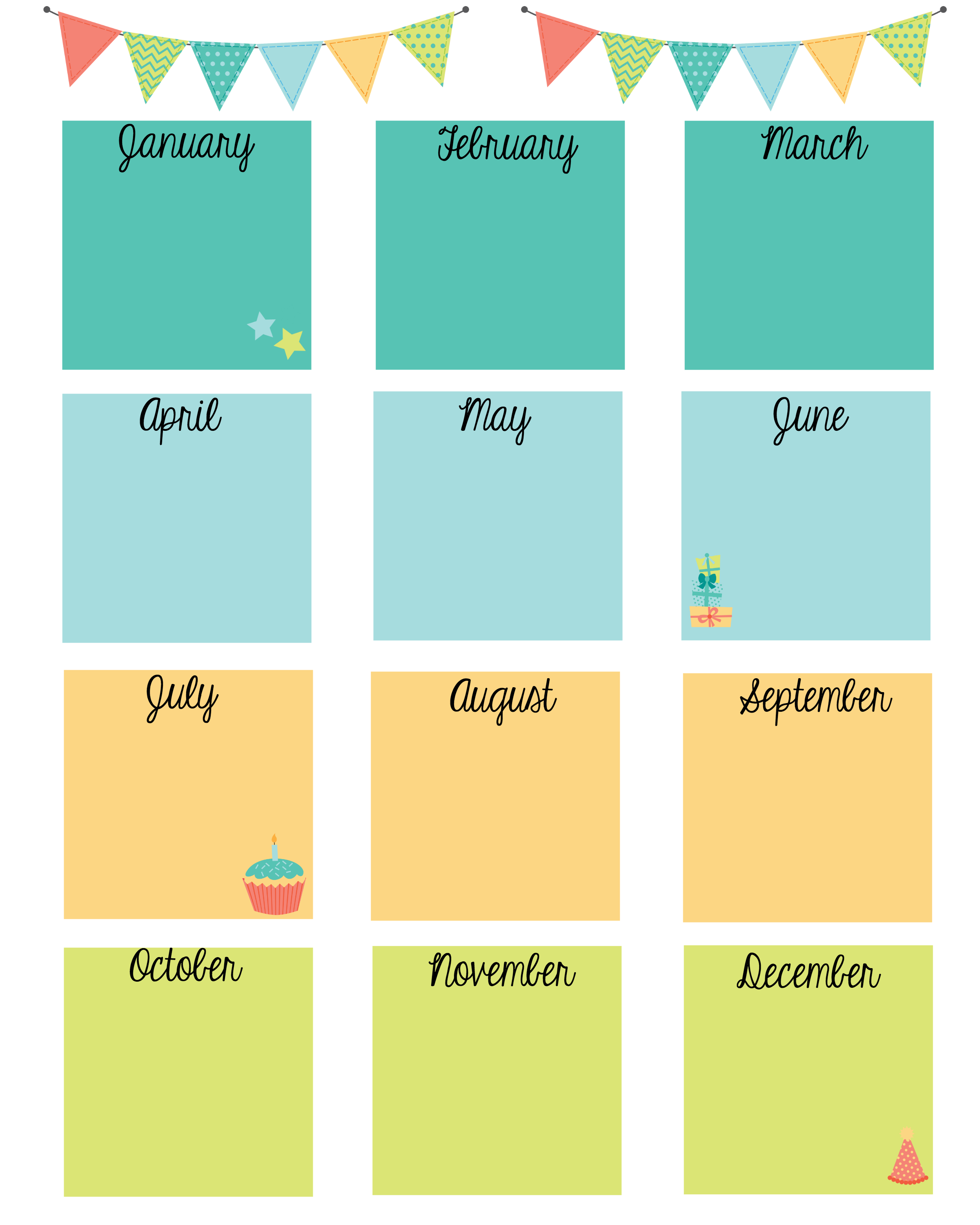 Keep In Touch With Friends With A Birthday Calendar | Calendars within Blank Monthly Birthday Calendars
