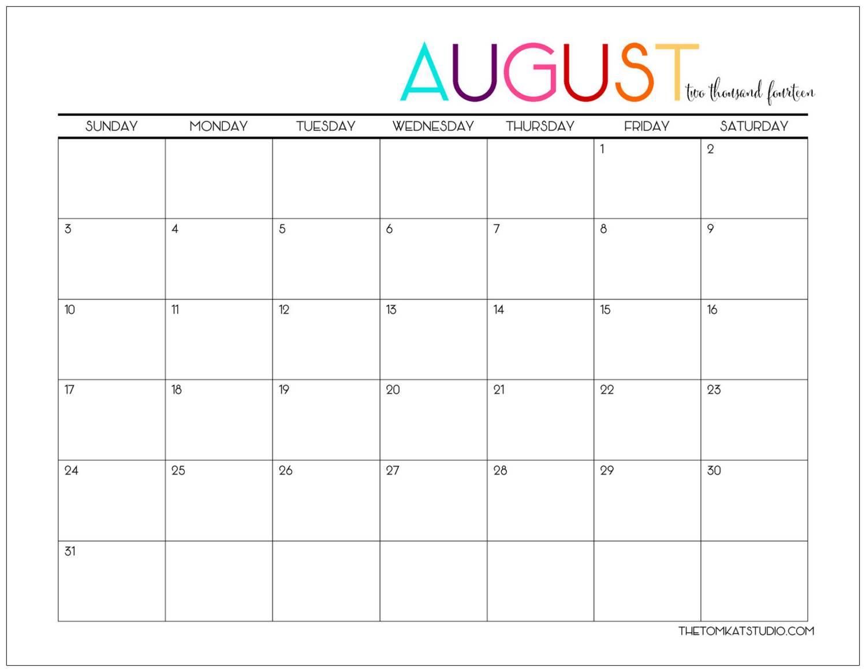 Large-August-2017-Calendar-Pdf-August-2017-Calendar in Cute August Calendar Printable Template