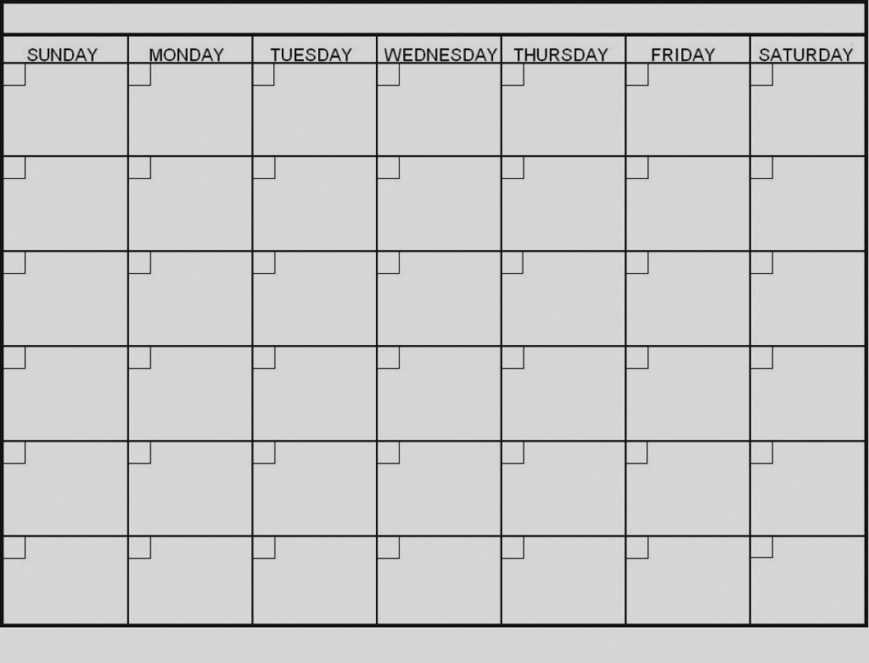 Latest Blank 6 Week Calendar Template Printable 2 Planner 2018-6 regarding Blank 6 Week Calendar Template
