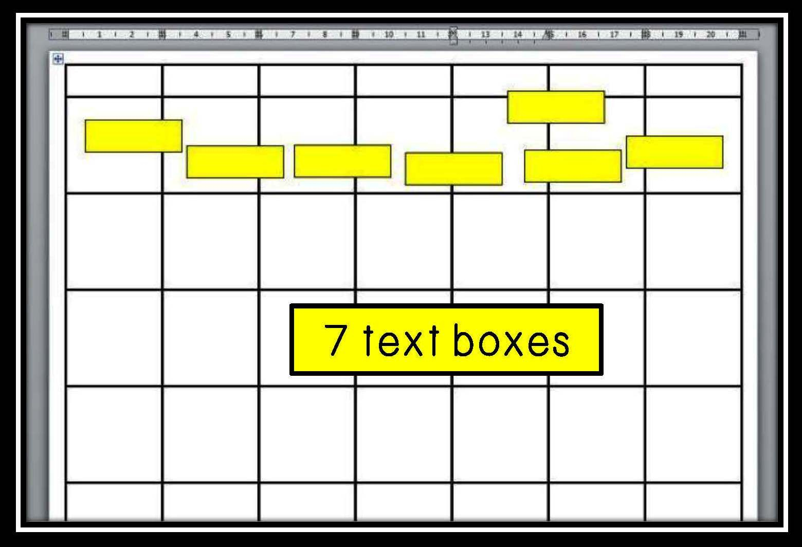 Lessonsmolly: Using Technology To Create A Classroom Calendar Chart inside Blank Calendar Chart For Classrooms