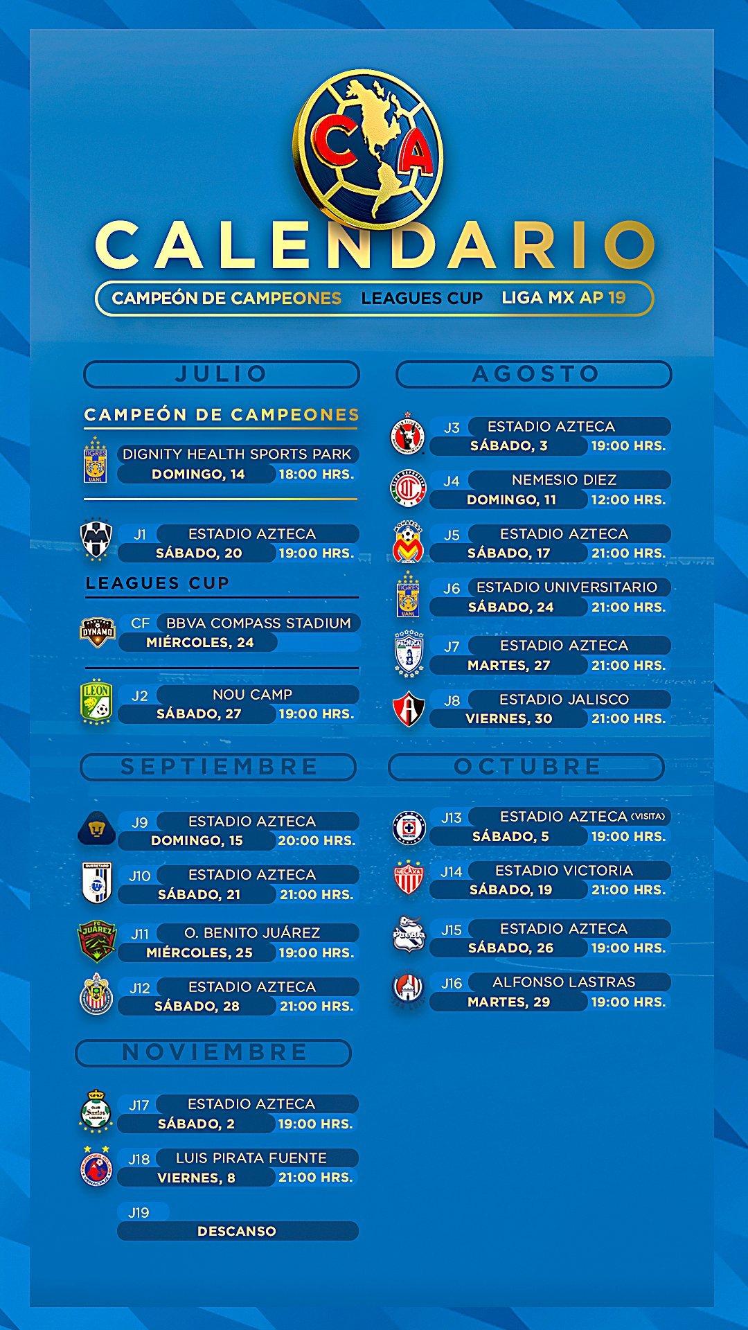 Liga Mx Apertura 2019: Los Calendarios De Todos Los Equipos Para El with Calendario Liga Mx 2019 2020