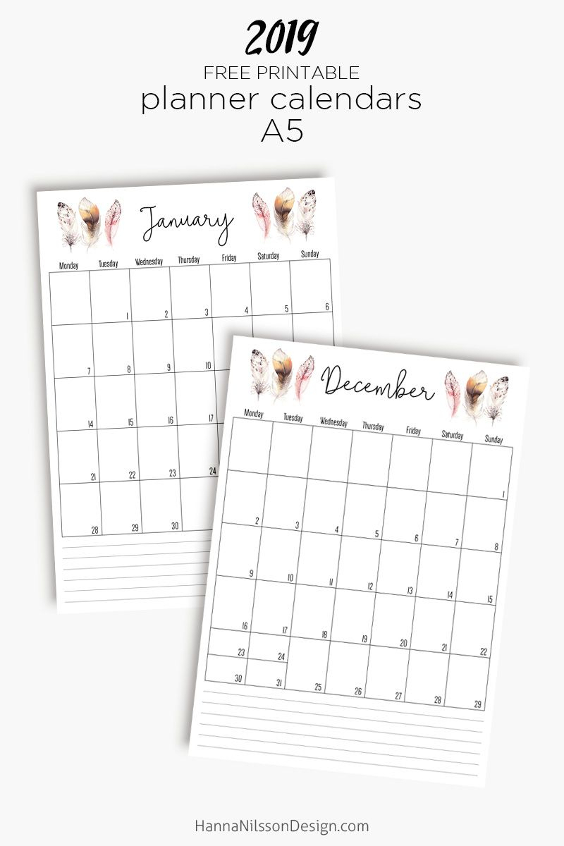 Lined Planner Inserts | Free Planner Printables | Free Printable for Blank Lined Weekly Printable Calendar