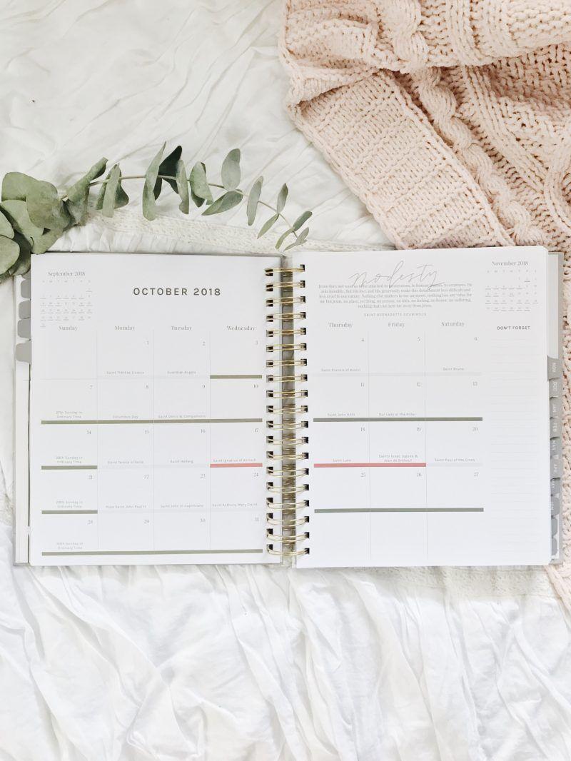 Liturgical Calendar Year Catholic Planner 2019 | Blessed Is She regarding Catholic Calander For October 2019