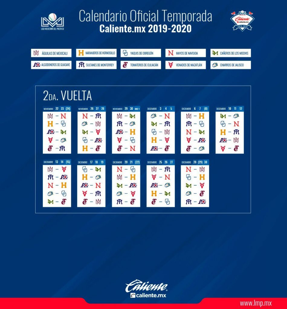 Lmp Define Su Calendario | Puro Beisbol inside Calendario Liga Mx 2019 2020