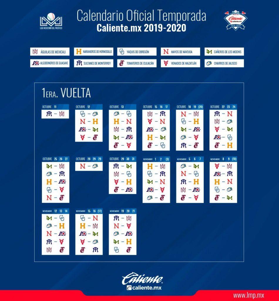 Lmp Define Su Calendario | Puro Beisbol intended for Calendario Liga Mx 2019 2020