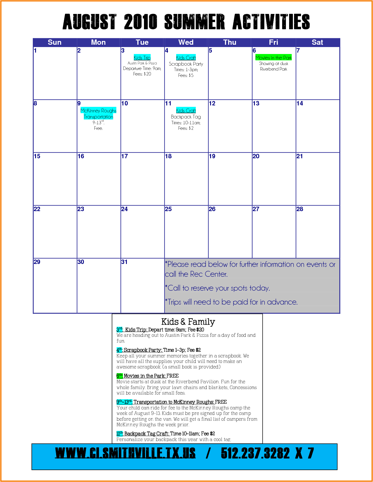 Lovely 35 Sample Summer Calendar Template | Blank Calendar Templates pertaining to Summer Activity Calendar Template