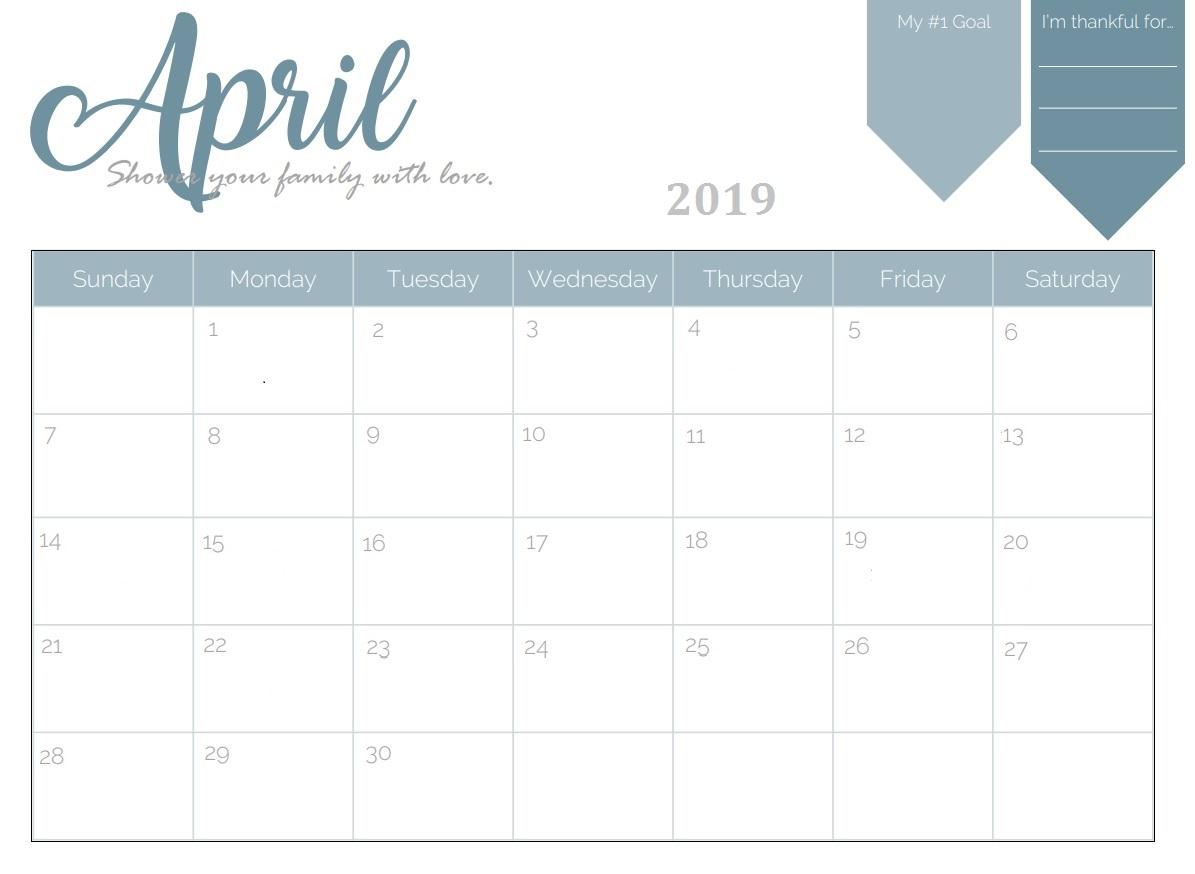 Lunar Calendar For April 2019 Printable Template Editable Pdf Blank with Template For Lunar Calendar