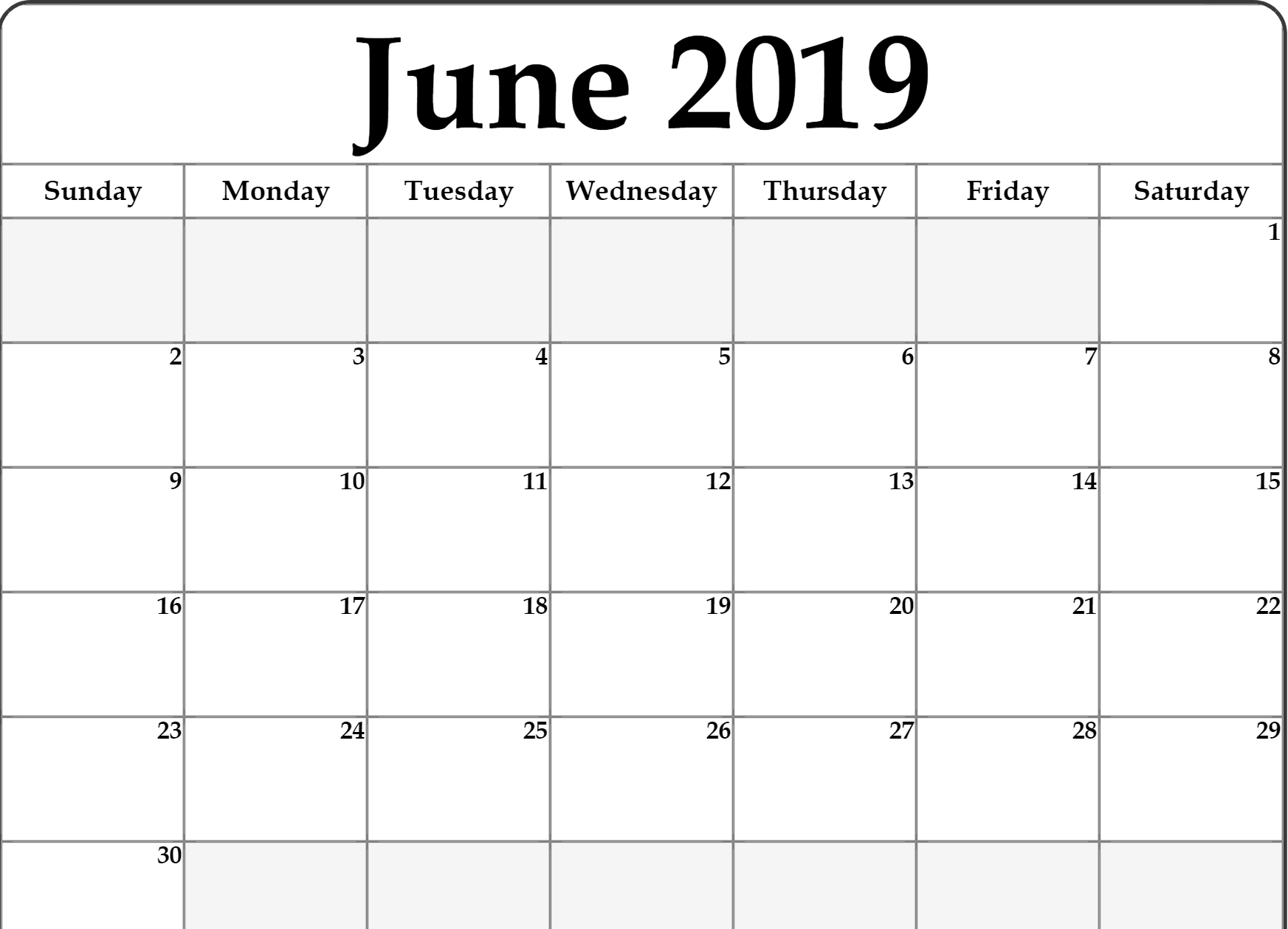 Lunar Calendar For June 2019 Printable Holidays Word Template inside Template For Lunar Calendar