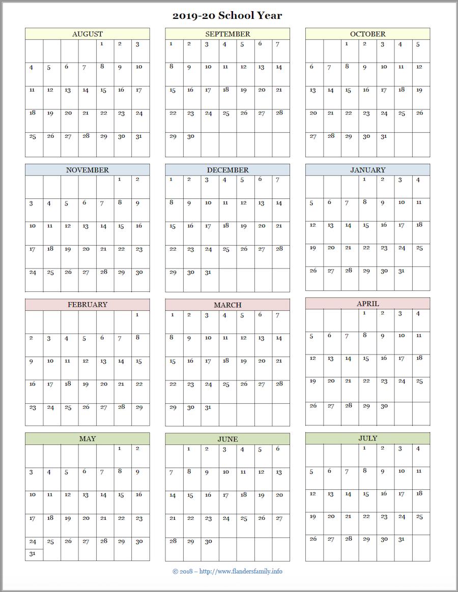 Mailbag Monday: More Academic Calendars (2019-2020) - Flanders with regard to 2019- 2020 Academic Calendar Printable Empty Boxes