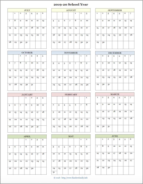 Mailbag Monday: More Academic Calendars (2019-2020) - Flanders with regard to Free Printable 2019-2020 Academic Calendar