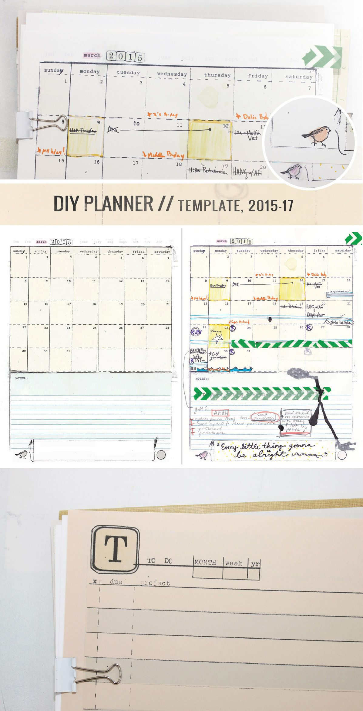 Make Your Own Awesome Planner, Yeah! #diyplanner | Do It throughout Doodle Monthly Planner Printer Templates