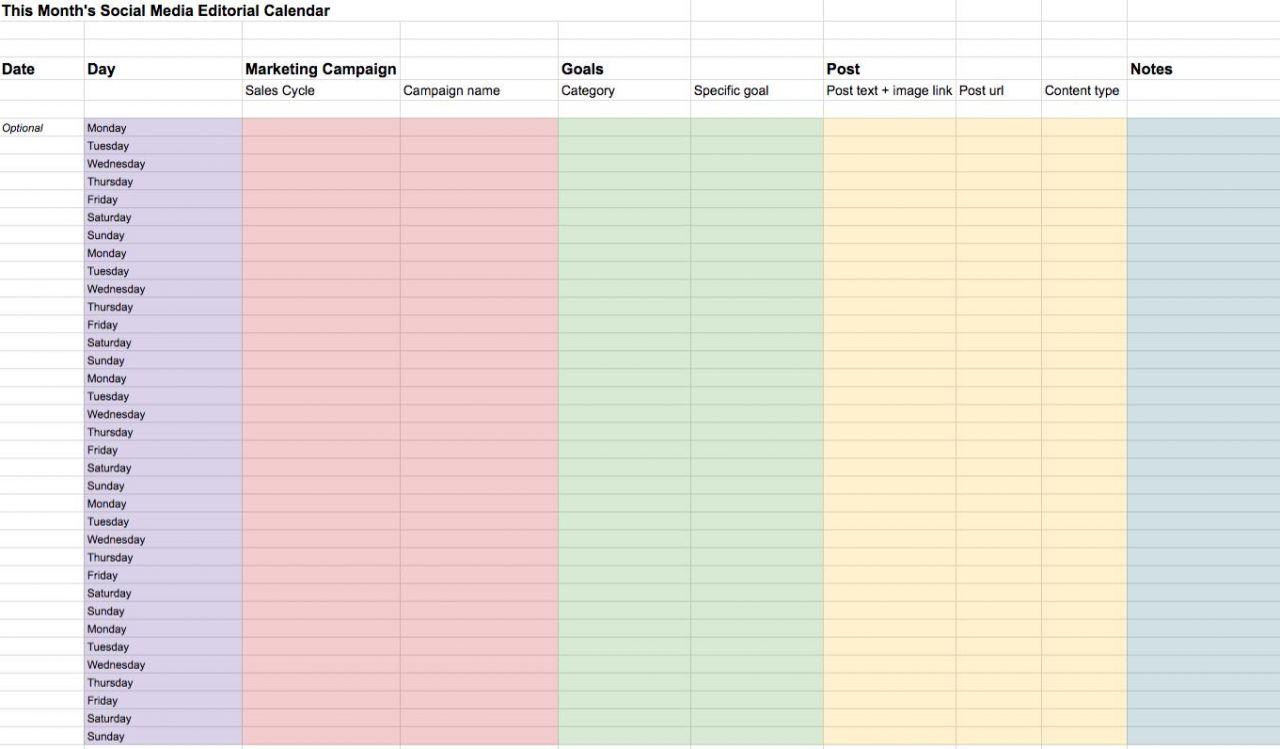 Making A Content Calendar For Social Media | Biteable for Social Media Calendar Template