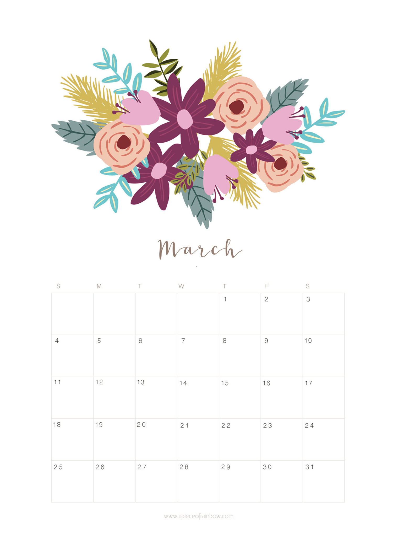 March 2018 Excel Calendar - Printable Monthly Calendar with regard to Pretty Calendar Template Printable March