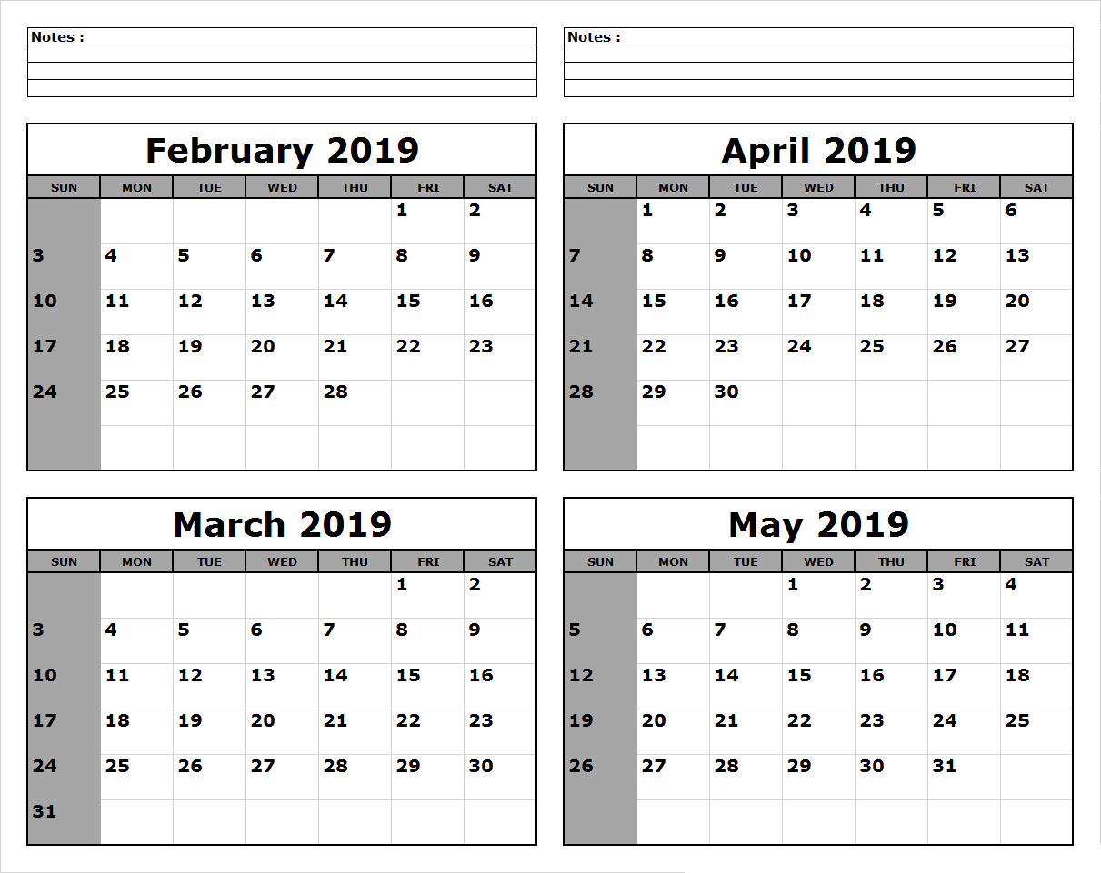 March April May 2019 Calendar Printable #march #april #may regarding 3 Month Calendar Templates May June July