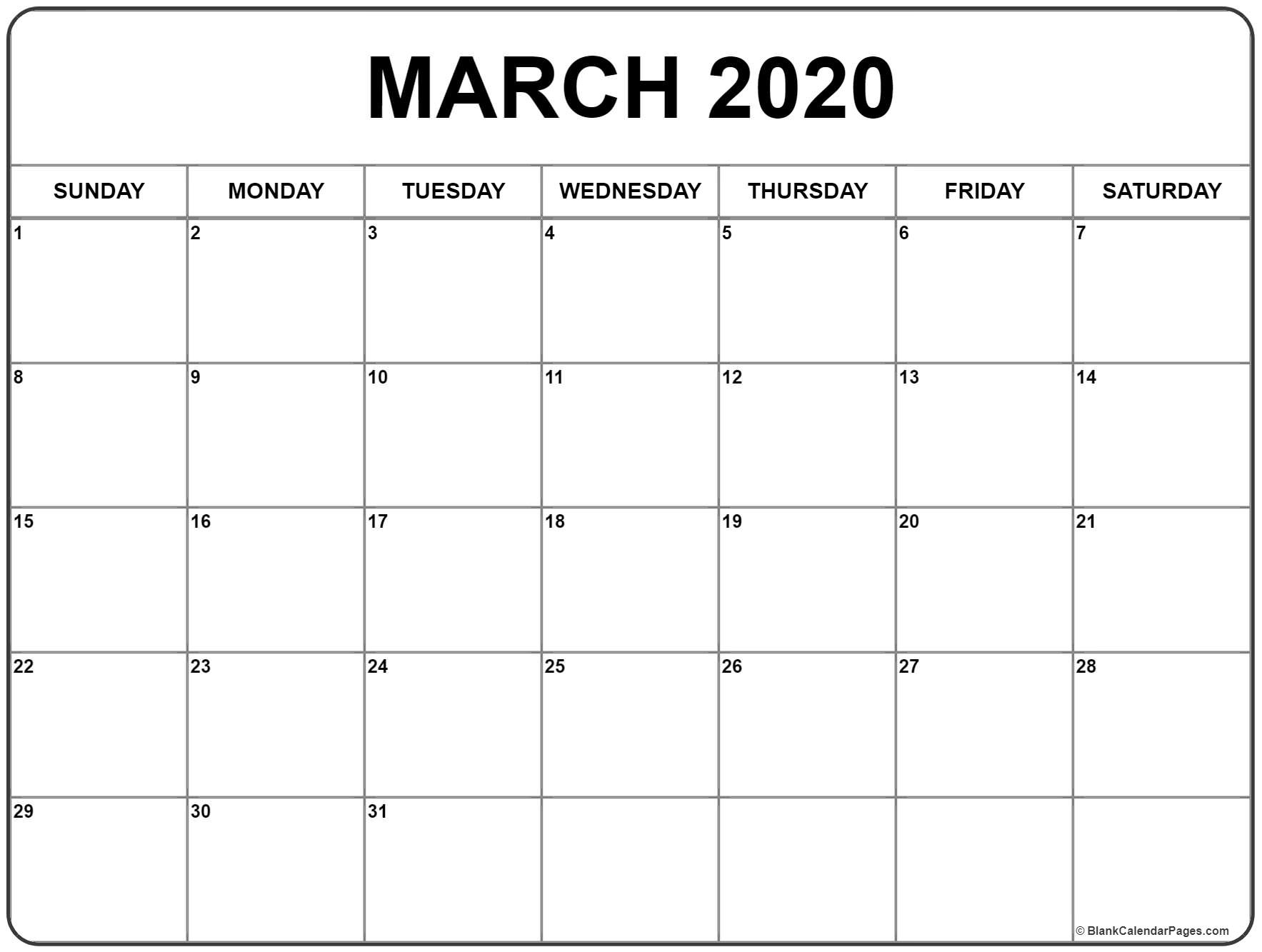 March Calendar Archives » Creative Calendar Ideas pertaining to Free Printable 2020 Waterproof Calendars