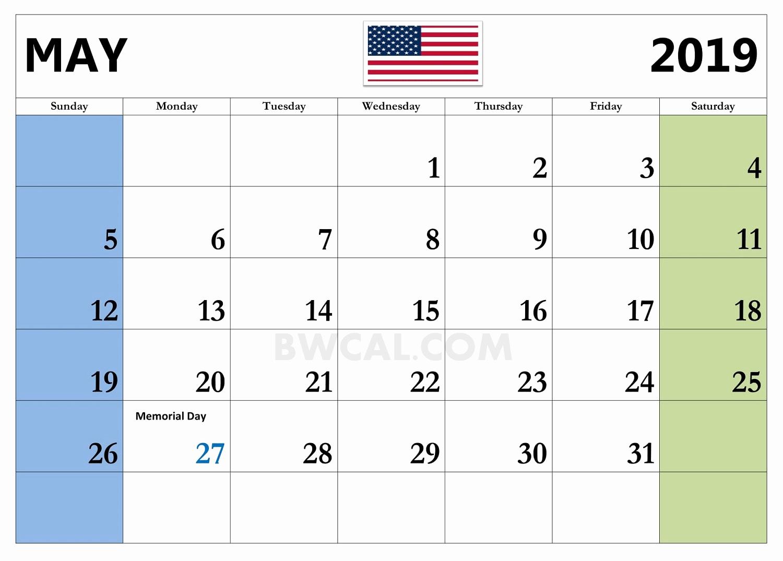 May 2019 Holidays Calendar Template - Printable Calendar 2019| Blank with regard to Calendar With Holidays Templates