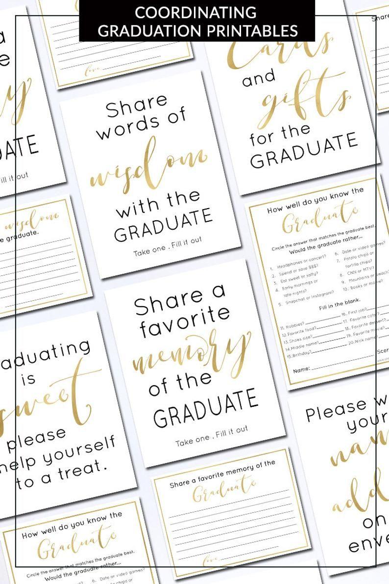 Memory Of The Graduate Card Printable | 2019 Editable Graduation regarding Blank Graduation Advice Sheets