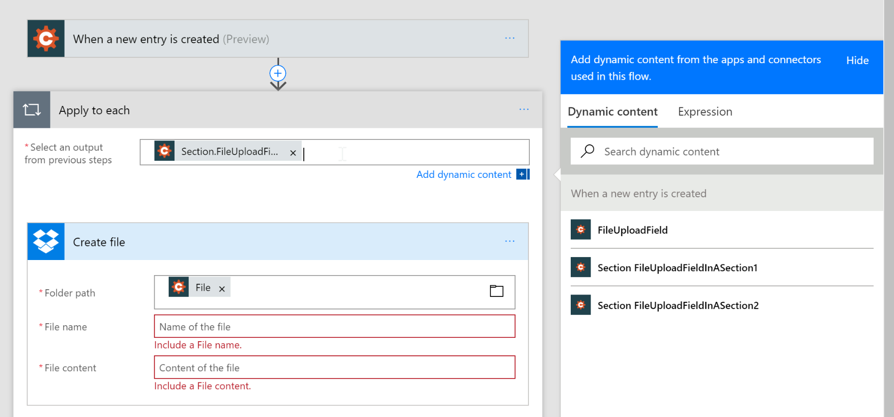 Microsoft Flow - Cognito Forms Support within Flow Template To Copy Dates From Sharepoint Calendars