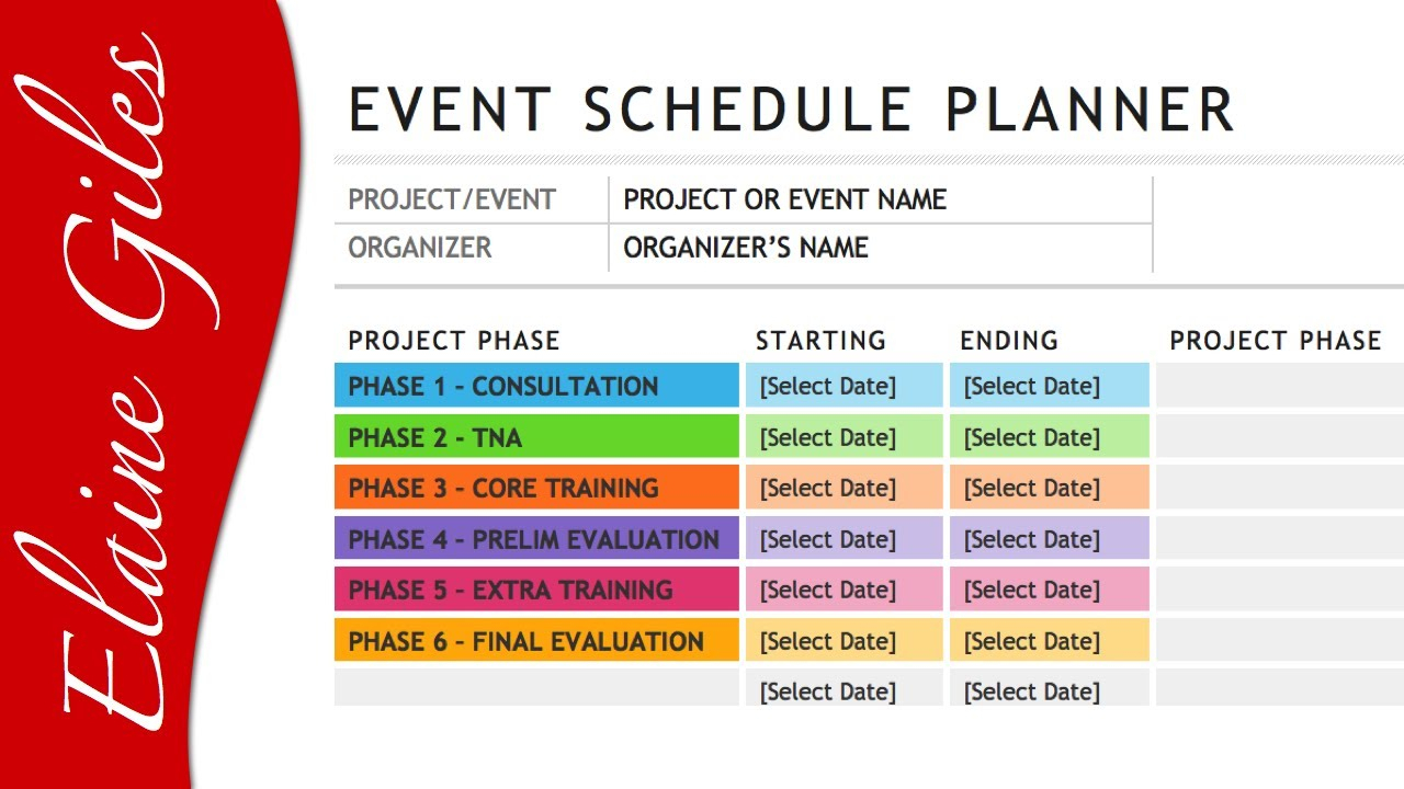 Microsoft Word 2013 Schedule Template for Calendar Of Events Template Free