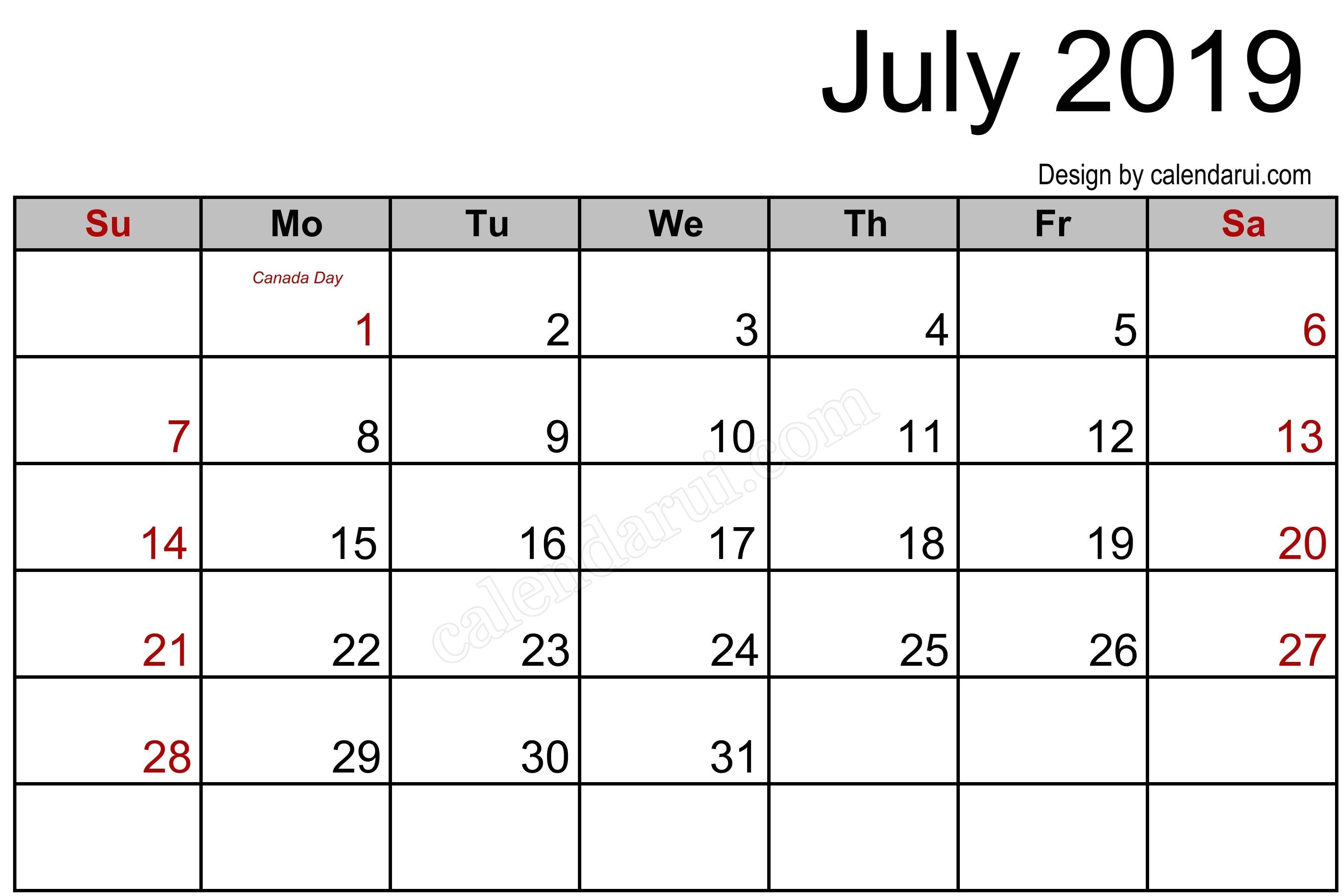Mini Blank June And July 2019 Calendar | Calendar Format Example intended for Mini Blank June And July Calendar