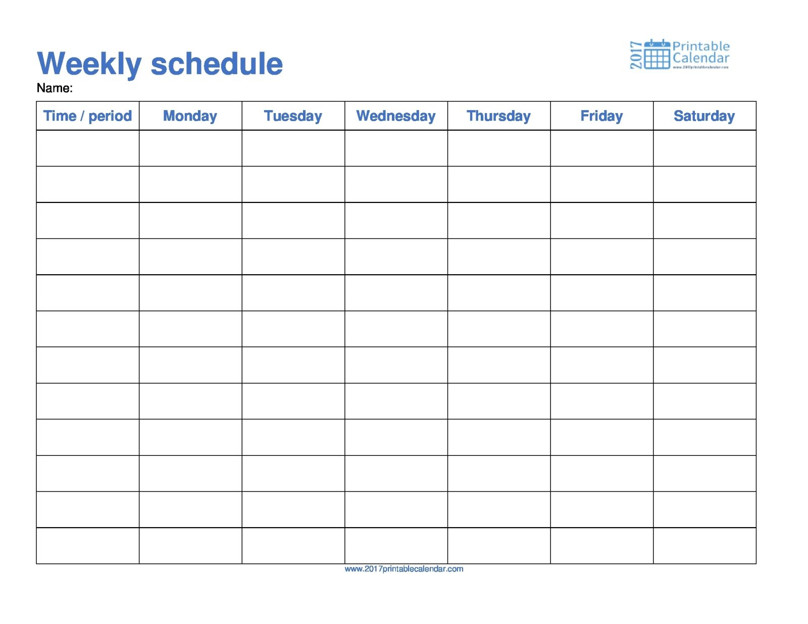 Monday To Sunday Schedule Template Free Weekly Templates For Word inside Calendar Template Monday To Sunday