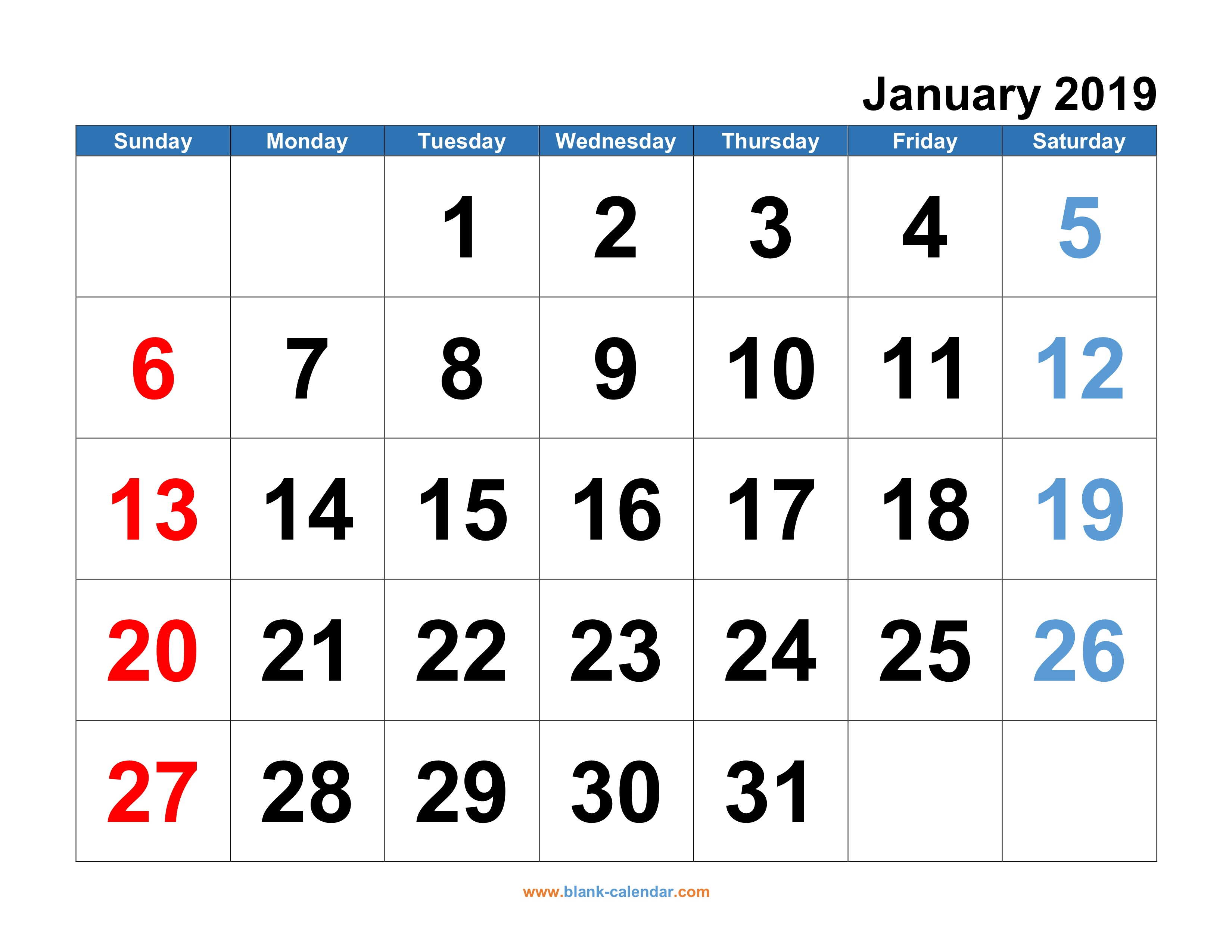 Monthly Calendar 2019   Free Download, Editable And Printable pertaining to Printable Blank 12 Week Calendar Template
