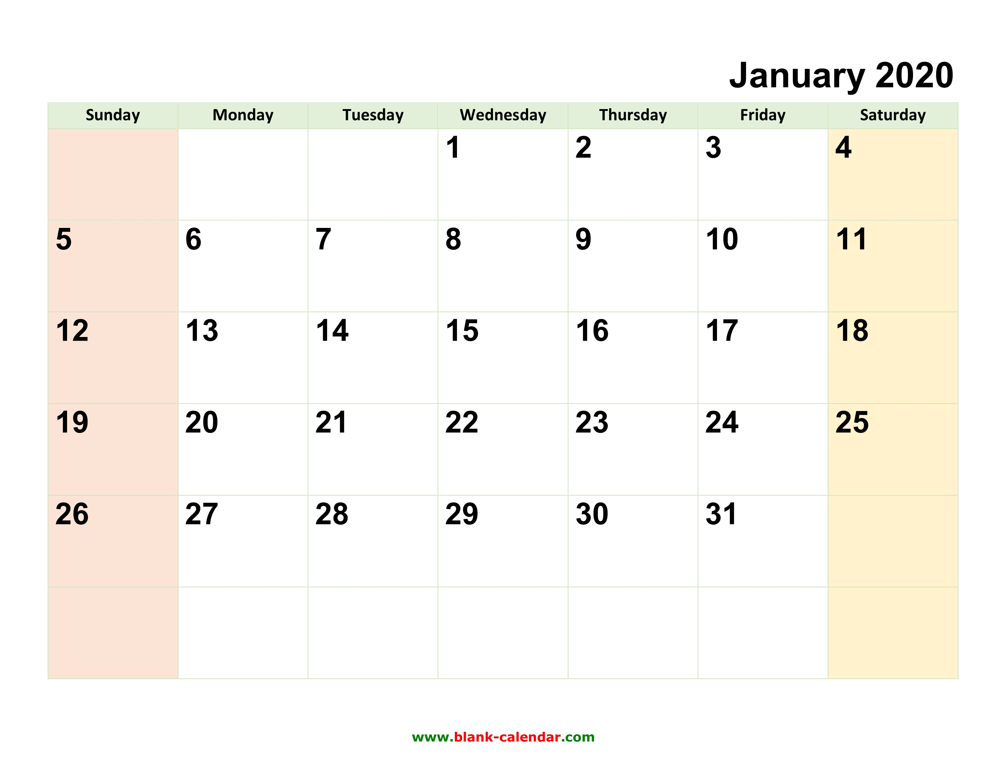 Monthly Calendar 2020 | Free Download, Editable And Printable pertaining to 2020 Calendar You Can Edit