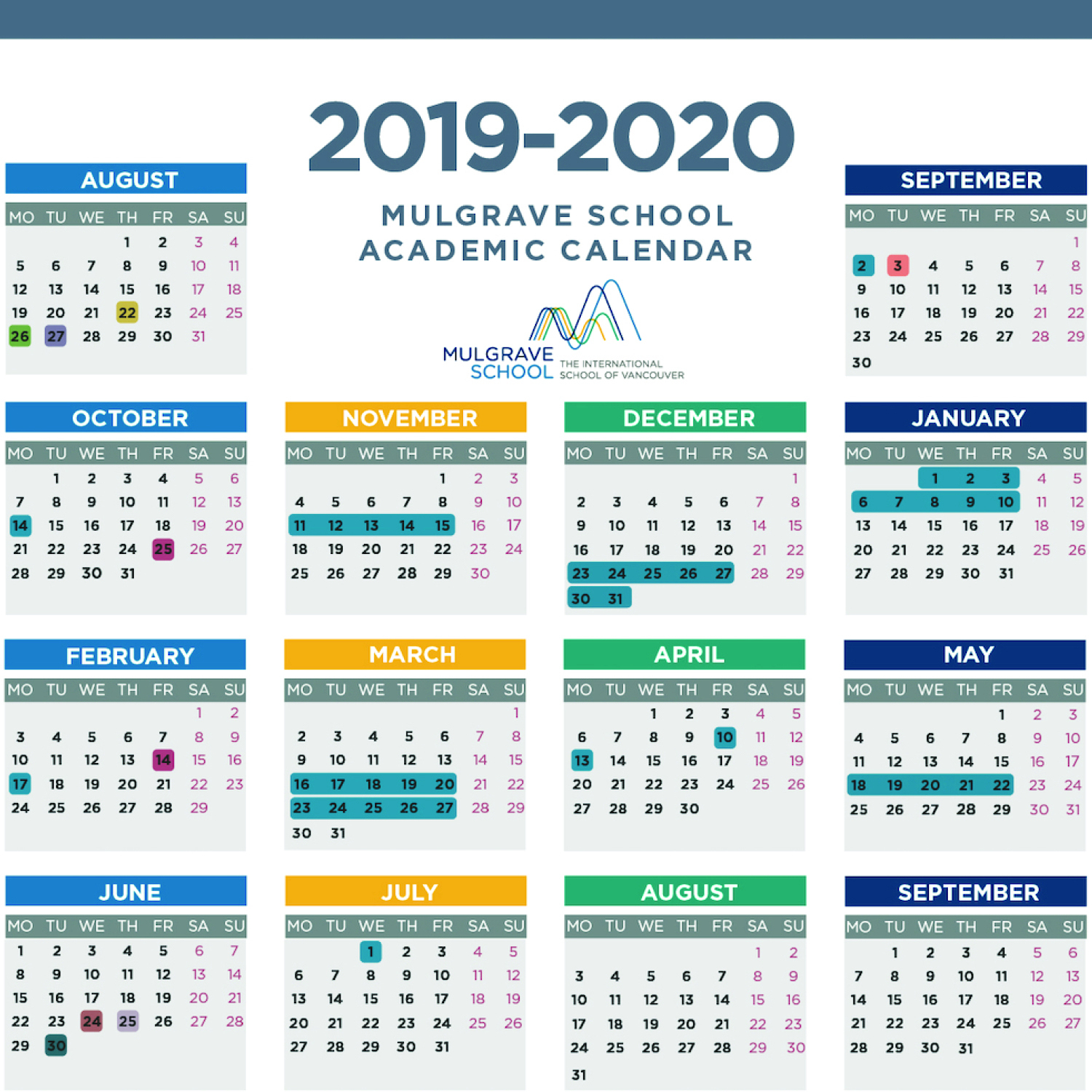Mulgrave School - Calendars regarding 2029 2020 Year At A Gllance Calendar