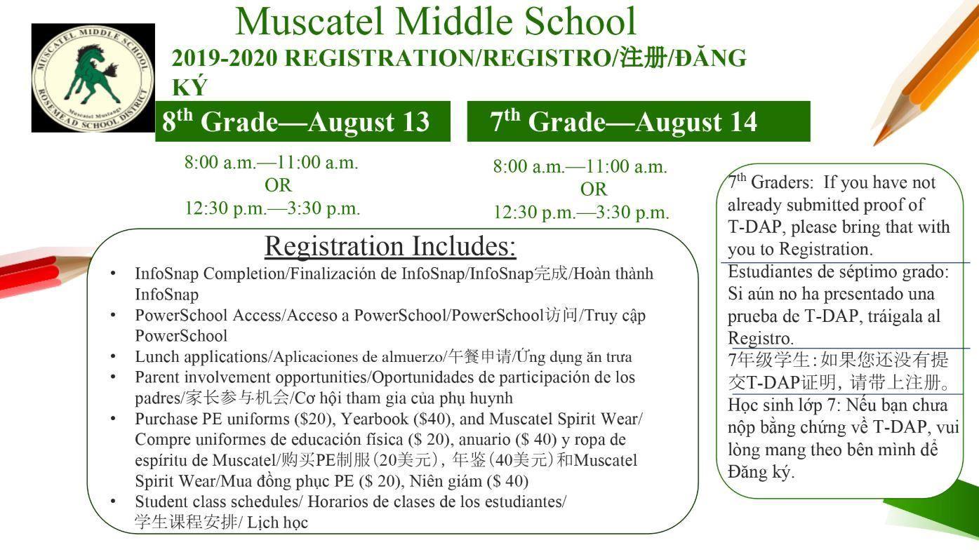 Muscatel Middle School / Homepage inside Homework Agenda Template 7Th Grade