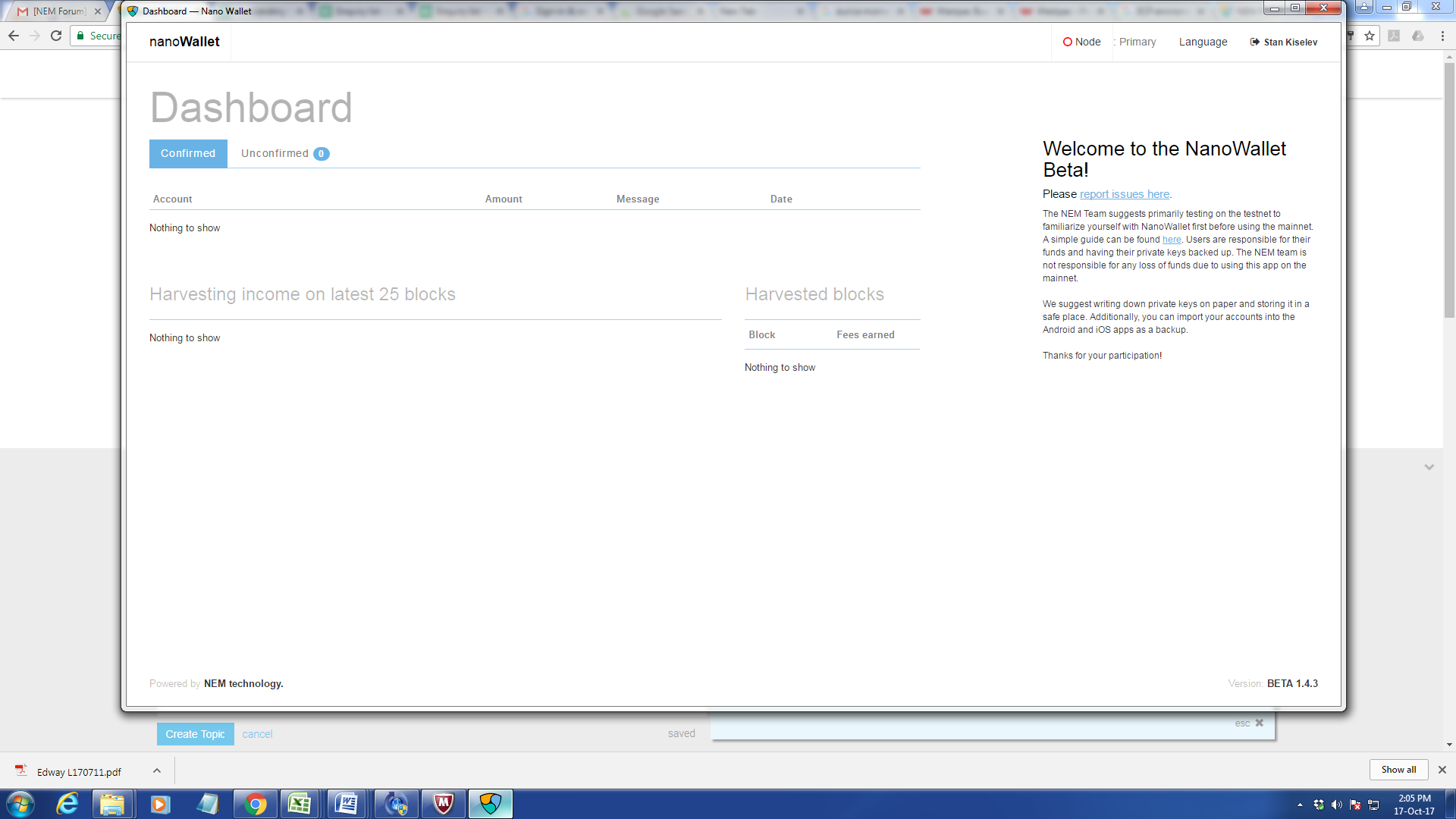 My Wallet Is Blank When I Log In [Solved] - Tech Support - Nem Forum in Blank My Account Information Logs