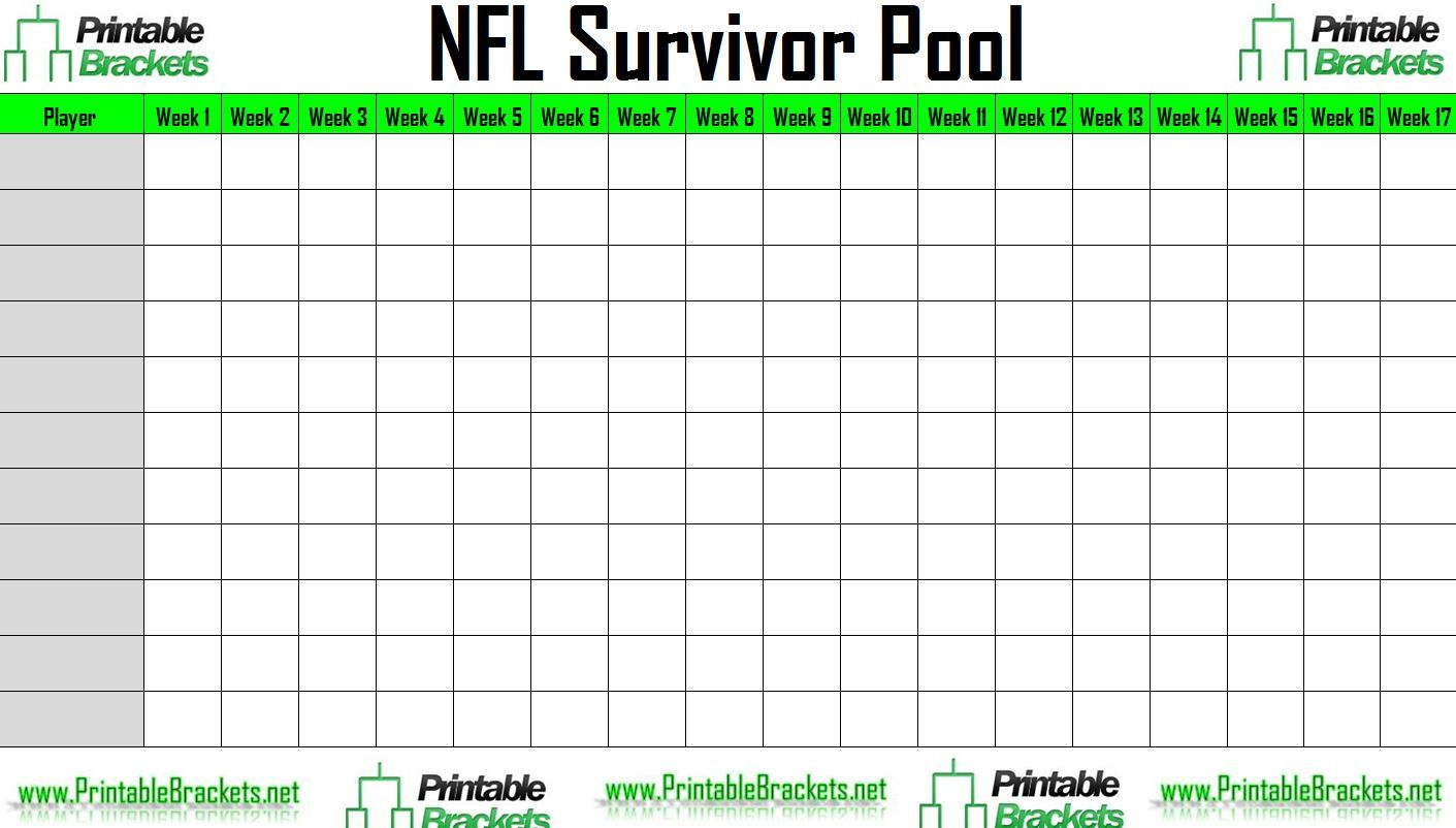 Nfl Survivor Poolhome | Sports Templates | Budget Spreadsheet throughout Template For Weekly Football Games Week 1