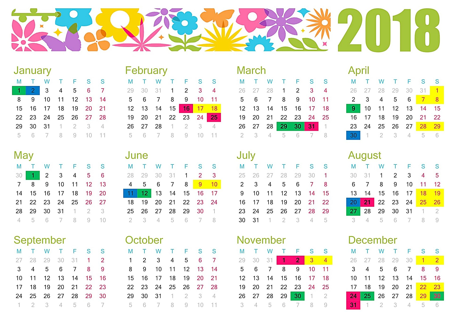 November 2018 Holidays Philippines - Free August 2019 Calendar with Printable Template For Philippine Calendar