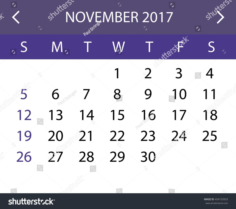 Null Printable Calendar November 2018 | Calendar Format Example with Null Blank Calendar To Print