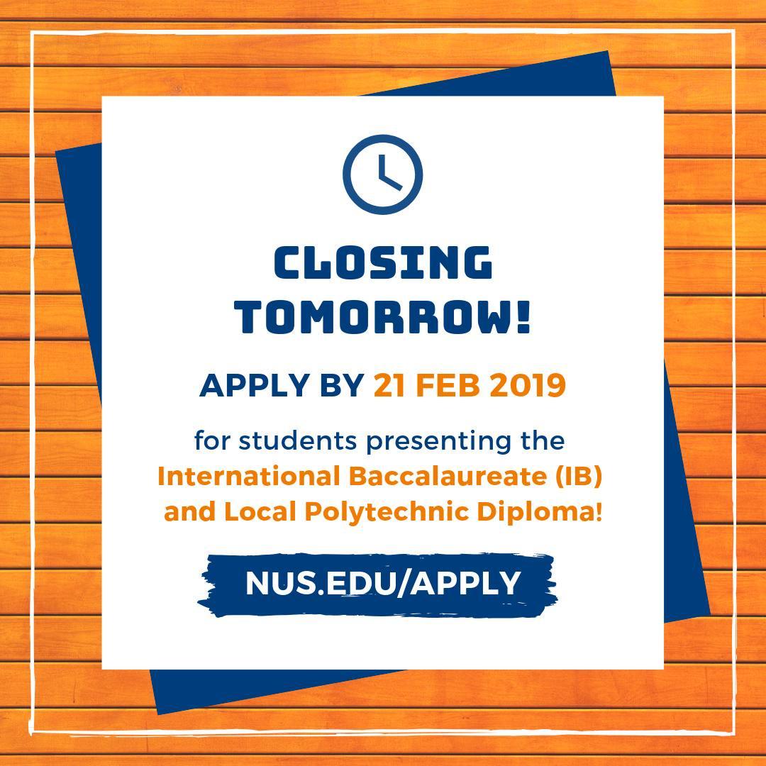 Nus Admissions (@nusadmissions)   Twitter with Nus School Term 2019 2020