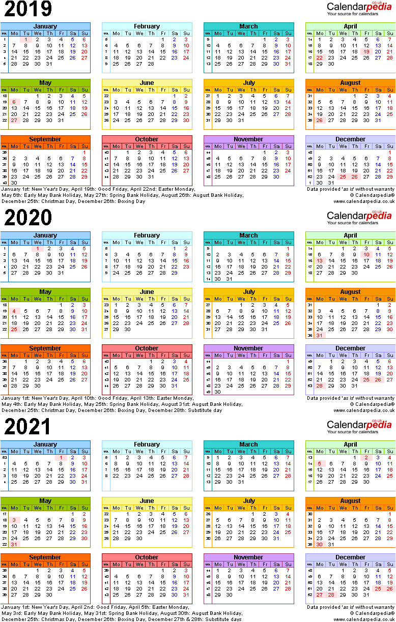 Nyc 2019 And 2020 School Calendar Three Year Calendars For 2019 2020 in Three Year Calendar 2020 -2023