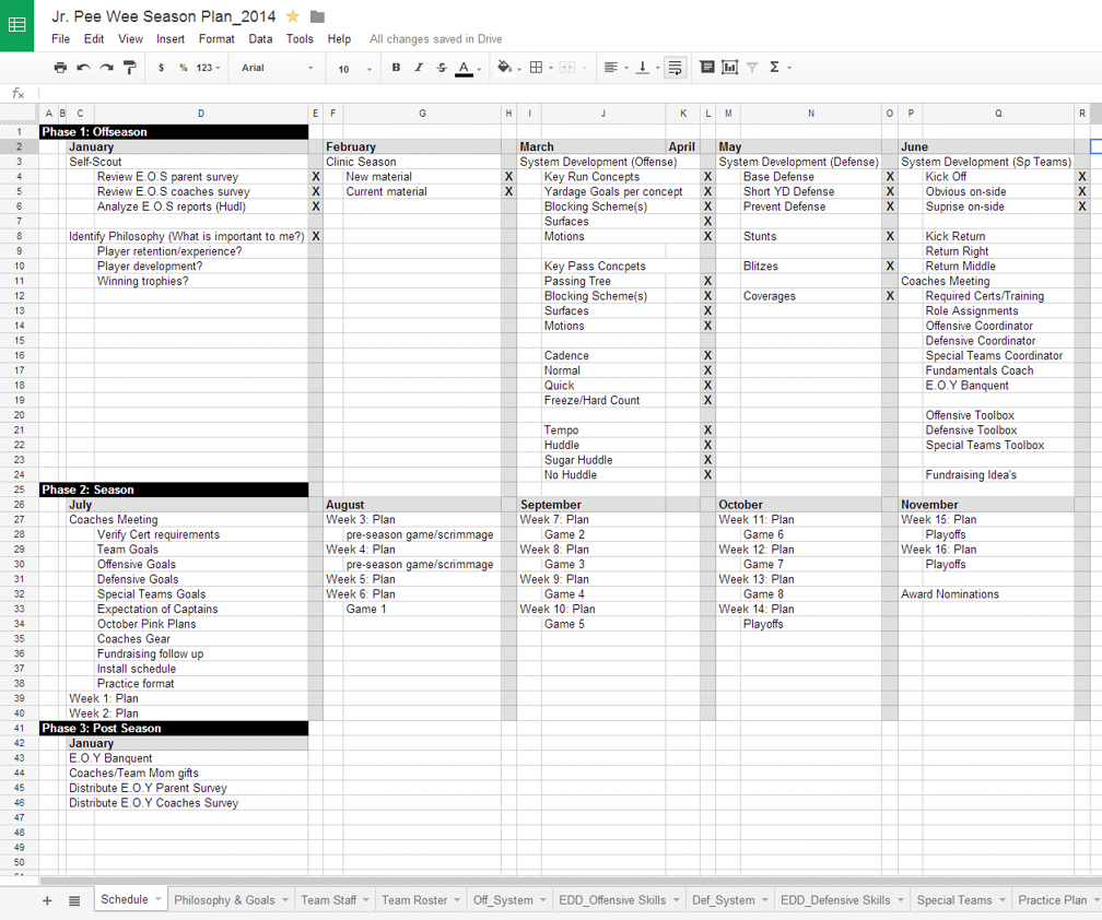 Organizing Season Plans For Youth Football intended for Template For Weekly Football Games Week 1